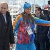 Путин в деревне. Олимпийской